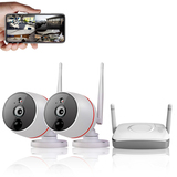 4Ch 1080P Video&Audio Wireless Camera System 1*2ch 1080P Record(TF card)+2*1080P Camera