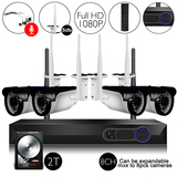 8Ch 1080P Video&Audio 2TB HDD Pre-installed Wireless Camera System 1*8ch 1080P Record+4*1080P Camera