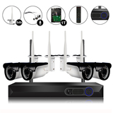 4Ch 720P Video&Audio 1TB HDD Pre-installed Wireless Camera System 1*4ch 1080P Record+4*720P Camera
