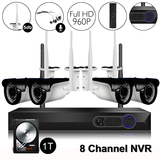 8Ch 960P Video&Audio 1TB HDD Pre-installed Wireless Camera System 1*8ch 1080P Record+4*960P Camera