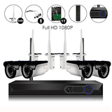 4Ch 1080P Video&Audio 1TB HDD Pre-installed Wireless Camera System 1*4ch 1080P Record+4*1080P Camera
